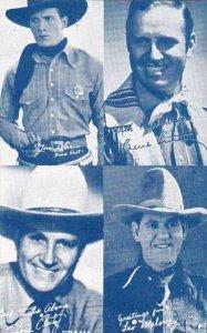 Cowboy Arcade Card Tom Tyler Gene Autry & Leo Maloney