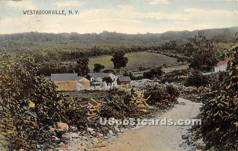 Road Scene Westbrookville NY Postal used unknown
