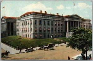Washington DC Postcard U.S. Patent Office Building /Street Scene c1910s Unused