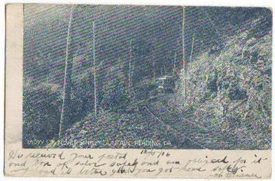 View Of Neversink Mountain Reading PA 1906