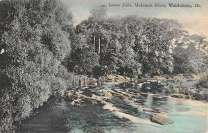 Waldoboro Maine Medomak River Lower Falls Antique Postcard K33462