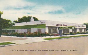 Florida Miami Edith and Fritz Restaurant and Cocktail Lounge