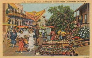LOS ANGELES , California , 30-40s ; Typical of Early Los Angeles, Olvera Street