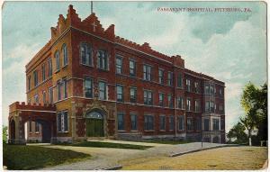 1907-15 Pittsburgh PA Passavant Hospital Allegheny Co Pittsburg Old DB Postcard