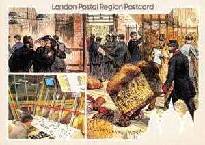 Royal Mail London Postcard, 1983 Parcel Centenary, Illustrated London News V96