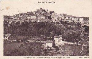 France Cagnes-sur-Mer Vue generale et route de Vence 1935