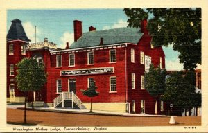 Virginia Fredericksburg Washington Mother Lodge Curteich