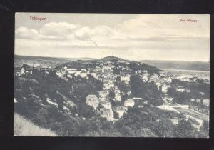 TUBINGEN GERMANY VON WESTEN OLD ANTIQUE VINTAGE POSTCARD
