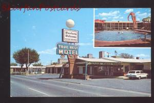 AMARILLO TEXAS TRUE REST MOTEL SWIMMING POOL VINTAGE ADVERTISING POSTCARD
