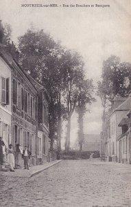 MONTREUIL SUR MER, Pas De Calais, France, 1900-1910s; Rue Des Bouches Et Remp...
