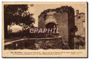 Saint Emilion Postcard Old Porte Brunet Soldiers Sully came by surprise 16 Oc...