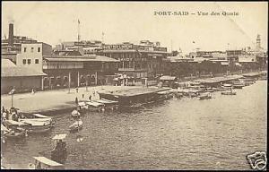 egypt, PORT SAID, Vue des Quais, Savoy Hotel (1928)
