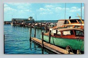 Postcard DE Dewey Beach Delaware View of Boat Marina c1950s W25