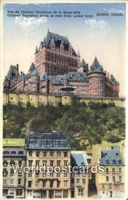 Chateau Fronenac, Hotel Quebec Canada Unused