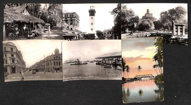 Sri Lanka Ceylon mostly RP's lot 6 vintage postcards