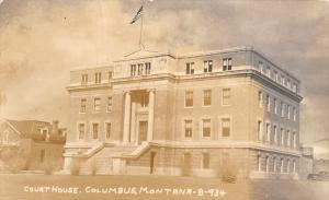 Columbus Montana~Stillwater County Court House~Home Next~1949 Real Photo~RPPC