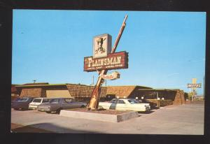 HOLBROOK ARIZONA ROUTE 66 THE PLAINSMAN RESTAURANT ADVERTISING POSTCARD