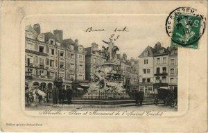CPA ABBEVILLE Place et Monument de l'Amiral Courbet (18993)