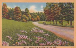 Indiana Greetings From Worthington