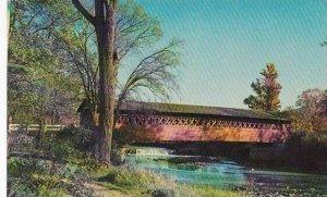 Covered Bridge The Henry Covered Bridge At Bennington Vermont