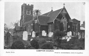 Campton Church Graveyard Eglise Postcard
