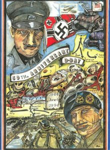 Limited Edition Giant Postcard Normandy D-Day 50th Anniversary Joan Main OS219