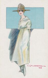 ART DECO ; CALDERARA ; Female Fashion portrait #3, 1910-20s