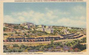 Government Building and Parking Terraces, Carlsbad Caverns National Park,  Ne...