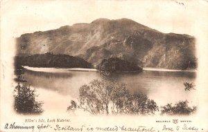 Scotland, UK Old Vintage Antique Post Card Ellen's Isle Loch Katrine 1903