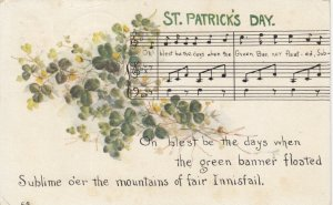 ST. PATRICK'S DAY, PU-1913; Music, lyrics and shamrocks