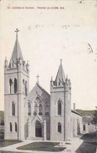 Wisconsin Prairie Du Chien Sainte Gabriels Church 1912