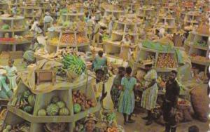 Jamaica Montego Bay Market Interior Stalls 1976