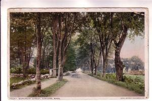 Monument St Concord, Massachusetts, Detroit Publishing 70097, Flag Cancel