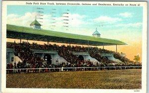 Henderson, Kentucky Postcard DADE PARK (Ellis) RACE TRACK Grandstand View 1939