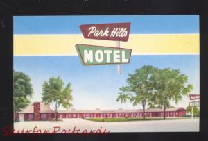 VINITA OKLAHOMA ROUTE 66 PARK HILLS MOTEL VINTAGE ADVERTISING POSTCARD AAA