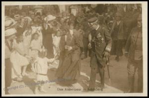 Austria WWI Kaiser Karl Franz Joseph Successor Wife Zita  RPPC 65697