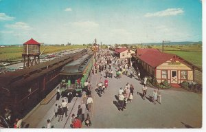 Postcard PA Pennsylvania Strasburg Railroad Train Station Aerial View Unposted