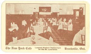 New York Cafe, Brockville, Ont