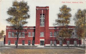 E50/ Midland Michigan Postcard 1912 High School Building
