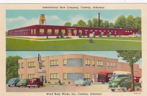 CONWAY, Arkansas, 1950s; 2-Views, International Shoe Company, Ward Body Wo