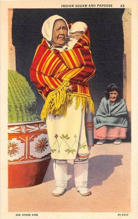 13559    Pueblo Indian Woman and Papoose