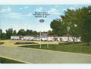 Unused 1950's STEVEN'S MOTEL Mitchell South Dakota SD s3327