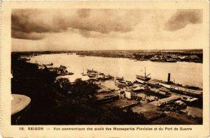 CPA AK VIETNAM SAIGON Vue panoramique des quais des Messageries Fluvia (256712)