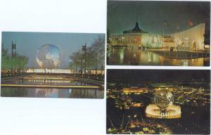 3 Cards New York World's Fair 1964-1965 New York City NY