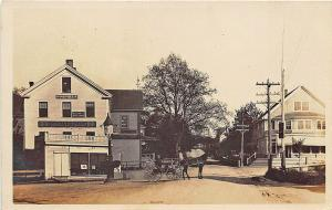 North Scituate MA Frank E. Cook Coal & Wood Storefront RPPC Postcard