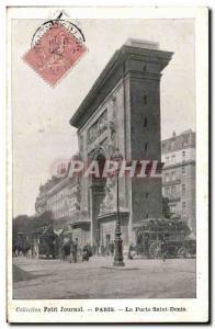 Paris - 10 - Porte Saint Denis - Collectable Diary - Old Postcard