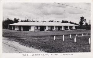 RP: RUSSELL , Manitoba , Canada , 30-40s ; Elks - Legion Court