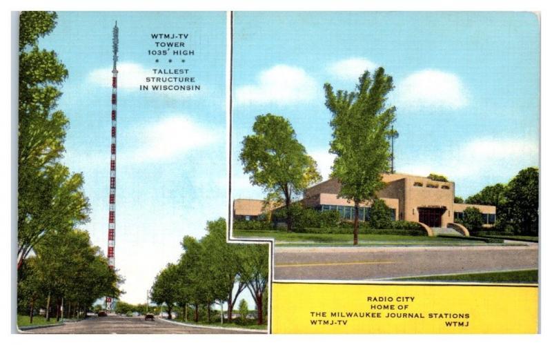WTMJ Radio Tower & WTMJ-TV Milwaukee Journal Stations