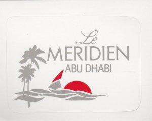 Abu Dhabi Le Meridien Hotel Vintage Luggage Label lbl0615