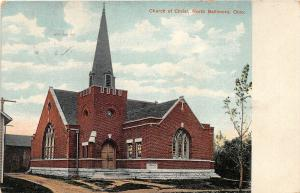 F27/ North Baltimore Ohio Postcard 1911 Church of Christ